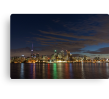 Toronto's Dazzling Skyline Across the Lake Canvas Print