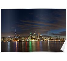 Toronto's Dazzling Skyline Across the Lake Poster