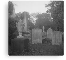 Cemetery Scene with Urn in Charleston Canvas Print