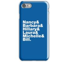 First Ladies Helvetica iPhone Case/Skin