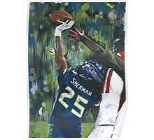 Richard Sherman vs Julio Jones Painting Poster