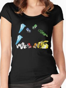 Castle Crashers - Pixels Women's Fitted Scoop T-Shirt