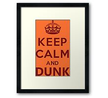 Calm and Dunk Framed Print