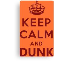 Calm and Dunk Canvas Print