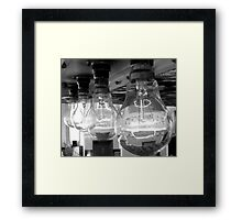 Lightbulbs Framed Print
