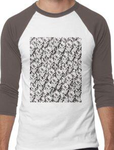 Halloween, Dantes Inferno, spooky pattern, skeleton, skulls Men's Baseball ¾ T-Shirt