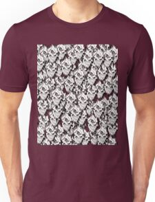 Halloween, Dantes Inferno, spooky pattern, skeleton, skulls Unisex T-Shirt