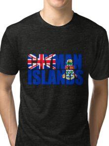 Cayman Islands Flag Tri-blend T-Shirt