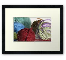 Goodness! Gracious! Great Balls of Yarn! Framed Print