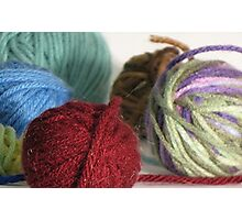 Goodness! Gracious! Great Balls of Yarn! Photographic Print