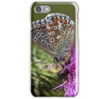 Adonis blue butterfly (Polyommatus bellargus) iPhone Case/Skin