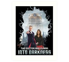 The Doctor and Clara: Into Darkness Art Print
