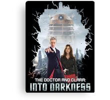 The Doctor and Clara: Into Darkness Canvas Print