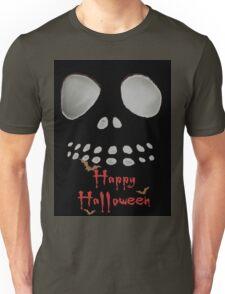 Happy Halloween, skeleton, skulls eyes, face, bats Unisex T-Shirt