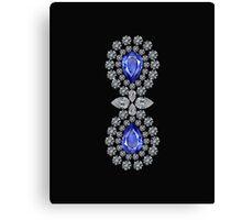 Black Double Sapphire IPad Cover Canvas Print