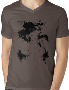 Grunge Spider Mens V-Neck T-Shirt