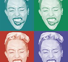 Miley meets Warhol by justacramp