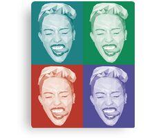 Miley meets Warhol Canvas Print
