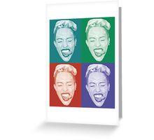 Miley meets Warhol Greeting Card
