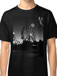 Ferris Wheel With Full Moon Classic T-Shirt