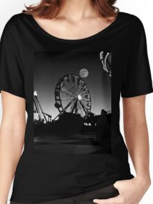 Ferris Wheel With Full Moon Women's Relaxed Fit T-Shirt