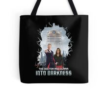 The Doctor and Clara: Into Darkness Tote Bag