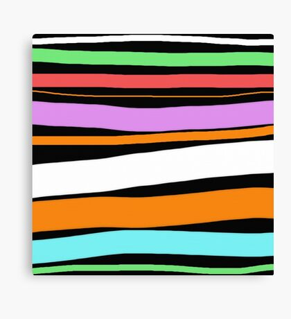 Pastel Brush Stokes Canvas Print