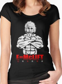 E=McLIFT (Einstein's Formula For Gains) Vintage Women's Fitted Scoop T-Shirt