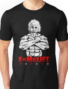 E=McLIFT (Einstein's Formula For Gains) Vintage Unisex T-Shirt