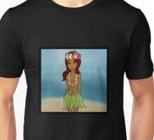 Hula Gal by the Beach Unisex T-Shirt
