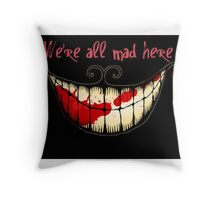 Evil Cheshire  Throw Pillow