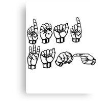 DEADWANG sign language Canvas Print