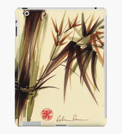 """Bamboo Symphony"" Original acrylic wash & brush pen painting iPad Case/Skin"