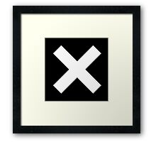 White X on Black Framed Print
