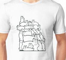Bun Pile - Black and White Unisex T-Shirt