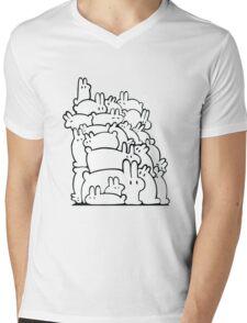 Bun Pile - Black and White Mens V-Neck T-Shirt