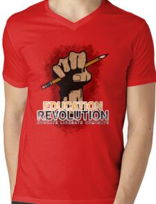 Education Revolution Mens V-Neck T-Shirt