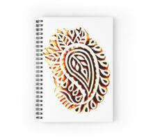 Paisley Stamp Spiral Notebook