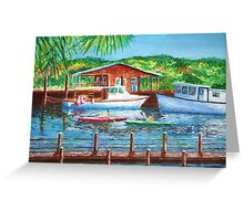 Shem Creek by Jan Marvin Greeting Card