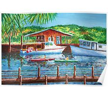 Shem Creek by Jan Marvin Poster