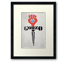 Gonzo Fist Framed Print