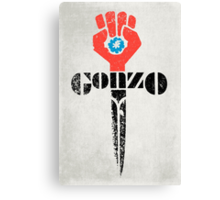 Gonzo Fist Canvas Print