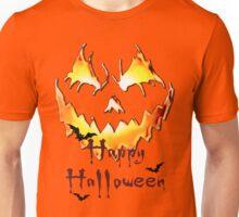 Happy Halloween, Jack O' Lantern face, spooky smile, bats Unisex T-Shirt