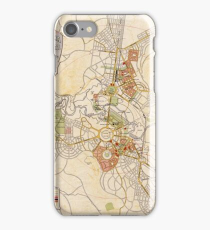 Map of Canberra 1927 iPhone Case/Skin