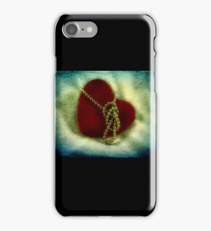 Heart and pearls iPhone Case/Skin