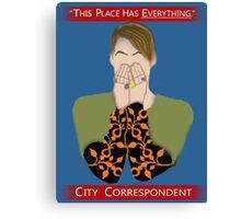 The City Correspondent Canvas Print