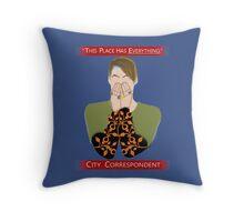 The City Correspondent Throw Pillow
