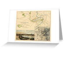 Map of Boston 1880 Greeting Card