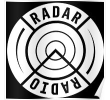 RADAR RADIO BACK PRINT / WHITE - GRIME Poster
