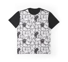 Black & White Kitties Graphic T-Shirt